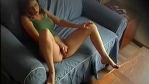 Shy bitch wife caught play with self