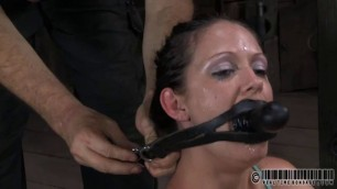 Caged hotty gets a whipping for her smooth gazoo women with wet pussy