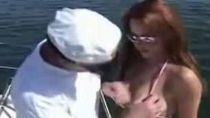 Woman takes a boat ride gets fucked in the perfect ass