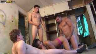 WTFPAss Girl raped by four guys