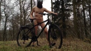 Naked on bicycle in public wood nackt au dem fahrrad sluty wife