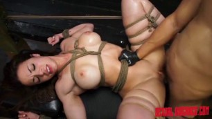 Whore kylie rogue tied up swallow fucking machine