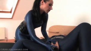 Young lesbians nora and lina pussy licking in spandex