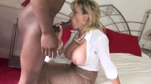 Lady sonia takes ebony dick creampie