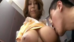 Rin Kajika Makes a Guy Sperm Between Her Boobs