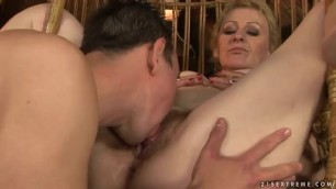 Old Blonde Woman Gets Jizz In Her Mouth After Giving Head