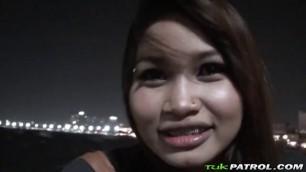 POV blowjob and hardcore fucking with busty Bela Asian slut