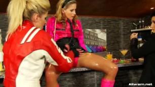 Gabrielle Gucci Leony Aprill Dina Schoolgirl Meets Her Mess Match At The Bar