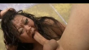 ute Asian Jenna Silks Gettin Her Face Slammed Rough With Dink