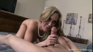 Brandi Love Blonde with a busty chest fucks with a guy Stepmom in Control