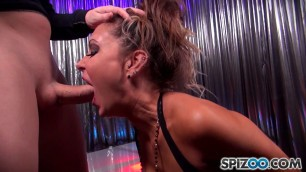 Jessica Jaymes Jessicas Club Sucks cock and takes sperm on face