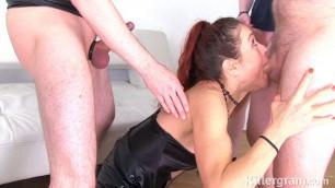 Monica Bollocksky Mature woman Cum Soaked Gangbang