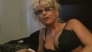 Mrs vicki vogue Licking his dick and exposing his breasts