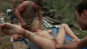 chastity lynn Petite Blonde hardcore gangbang outdoor anal d p