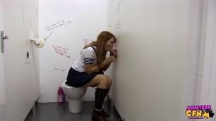 Tiffany Ella Sucks cock sticking in the hole Schoolgirl Gloryhole