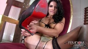 Adriana Chechik JOI brunette latex dirty talk humiliation heels