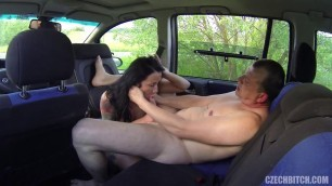 Sexual czech bitch Shows the driver of the chest and he wants to fuck her 23