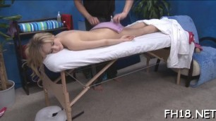 Hot 18 girl marry gets fucked hard by her massage therapist