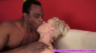 Hot Granny sucks and fucks a big black cock