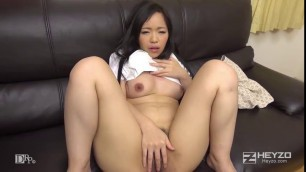 Tiny Asian chick Elen toying her clit before doggystyled