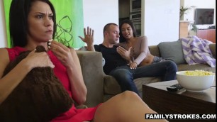 Hot Latina sister Mya cannot contain her sex drive about her stepbro