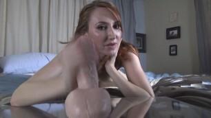Stepmom Kendra James redhead masturbation dildo solo wants you JOI POV