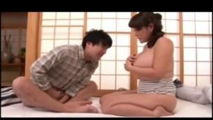 Big tits mature japanese slut fuck young stud