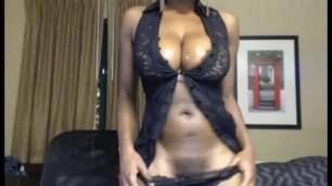 German amateur striptease ebony babe with big tits