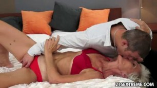 Sexual GILF Aliz have a blast with a big young cock