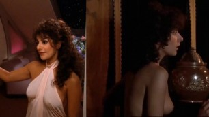 Seductive Brunette Woman Marina Sirtis naked