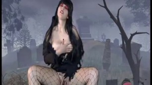 Elvira Gorgeous Busty Brunette Masturbation Video