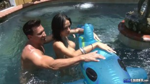 Sexual Busty Brunette Angelina Valentine Blessed Blowjob