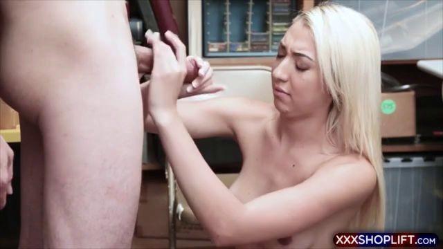 Hot Teen blonde shoplifter suspect gets her punish fuck