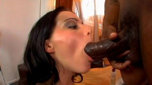 Natasha Nice licks his dick and eggs Interracial Sluts