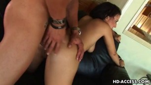 Delightful Brunette Ricki White fucked from behind