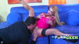 Taylor Wane Busty blonde licking pussy The Milfaholic