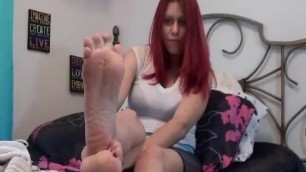 Hot Girl Catherine Foxx in Dirty Hanes Socks and Feet