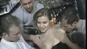 Fucked by 3 Guys harming Blonde Elena Nikulina