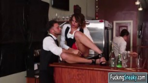 Horny Hot babe Eve Ellwood getting fucked by her co worker