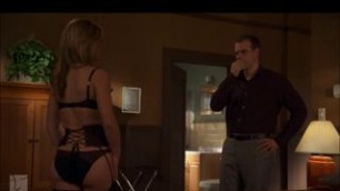 Appealing Julia Stiles takes off sexy lingerie