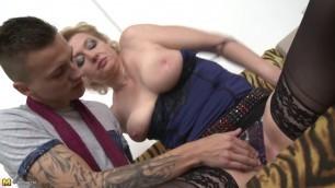 Sandra G mature woman in sexy lingerie fucked Hardcore
