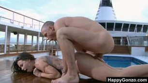Awesome Tattooed Sophia Santi fucked on the boat