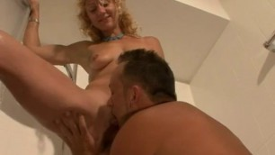 Natural tit Nude blonde Anastasia Kessler gives a blowjob and gets screwed
