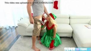 Petite blonde elf Uma Jolie gets her tight pussy hammered by JMac