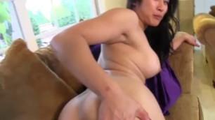 Mia Li brunette with natural shapes fucked Pov