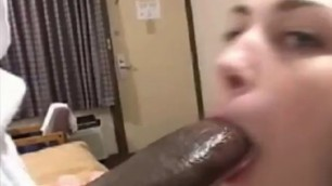 BBC Girl A cute girl sucks a huge black dick htm