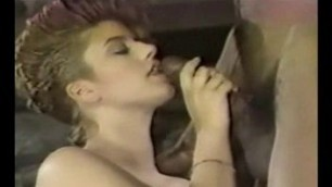 Vintage Interracial too big dick for her mouth