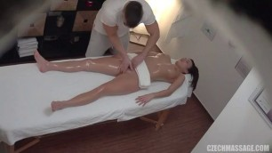 Sexy Brunette Gets Body Massage