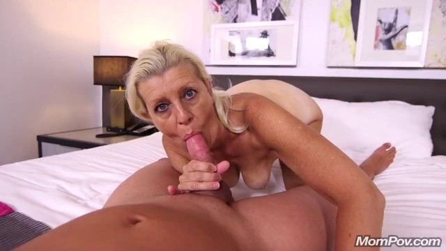Mompov Hot Blonde Cougar Does First Porn