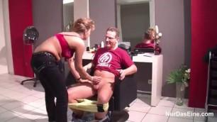 Slut Girl Bangs In Her Shop